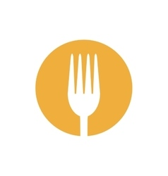 fork food utensil kitchen icon design vector image vector image