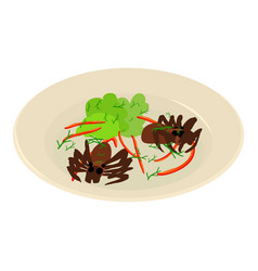 Fried ant icon isometric style vector