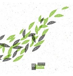 Go green conceptual vector