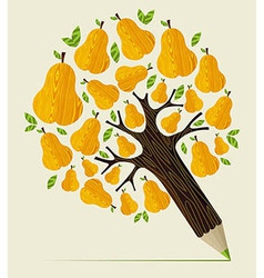 Healthy fruit concept tree vector image