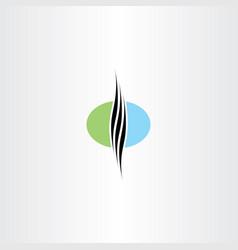 healthy natural hair logo vector image