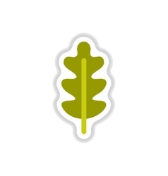 Label with leaf shadow icon design vector image