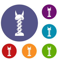 mechanic icons set vector image vector image