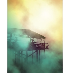 Misty shack life vector image vector image