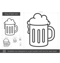 mug of beer line icon vector image
