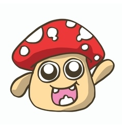Mushroom cartoon t-shirt design vector
