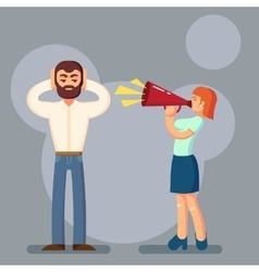 Negative emotions concept people in fight vector