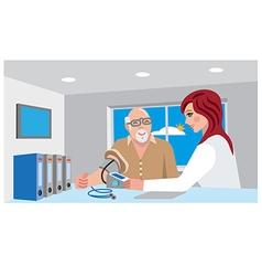 nurse and senior patient vector image