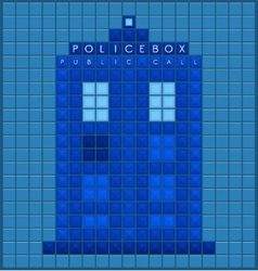 Old police box vector