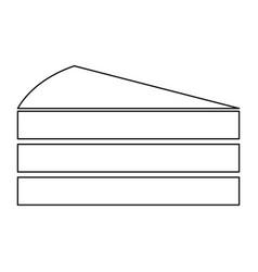 Piece of cake black color path icon vector