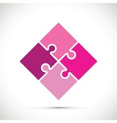 Pink jigsaw pieces vector