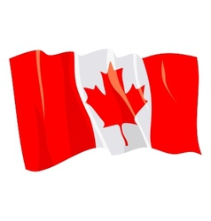 Political waving flag of canada vector