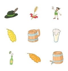 Pub icons set cartoon style vector