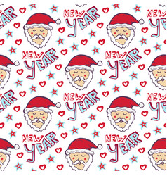 Santa claus new year pattern christmas wrapping vector