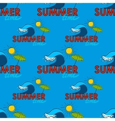 Seamless pattern Summer doodle postcard Hand vector image