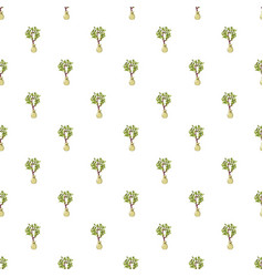 Seedling pattern seamless vector