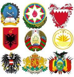 set of coats of arms vector image vector image