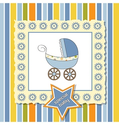 shower card with pram vector image