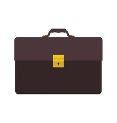 Suitcase bag business travel icon graphic vector
