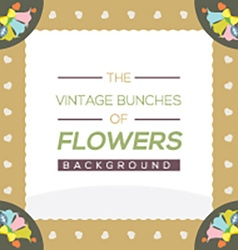 Vintage Flowers Background vector image vector image