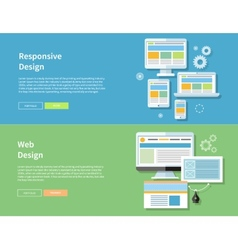 Web and Responsive Design vector image
