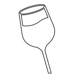 Wine glass cup liquid line image vector
