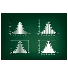 Set of normal distribution or gaussian bell curve vector