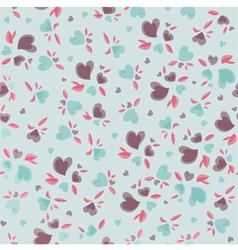 Vintage Valentine Pattern vector image