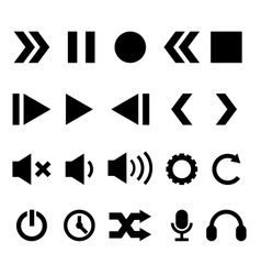 Player Icons Set vector image