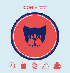 Cat - logo symbol protect sign icon vector