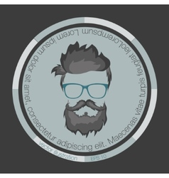 Icons hairstyles beard vector