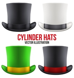 Set of gentleman hat cylinder vector
