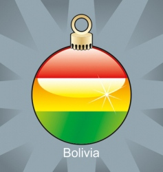 Bolivia flag in bulb vector image