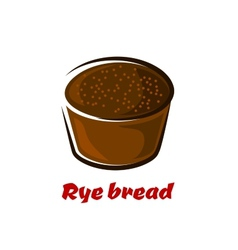 Cartoon loaf of spicy rye bread vector