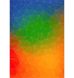 Colorful abstract 2d geometric background vector