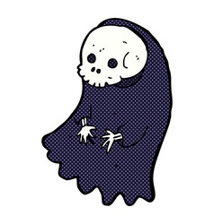 Comic cartoon spooky ghoul vector