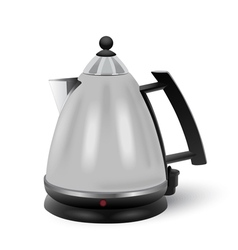 Abstract stainless electric kettle isolated vector