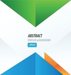 Triangle design green orange blue vector