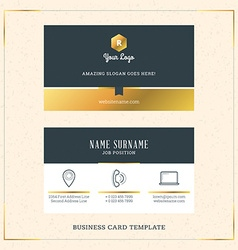 Modern creative golden business card template vector