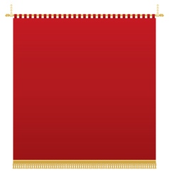 red wall hanging vector image