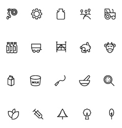 Agriculture Line Icons 5 vector image vector image