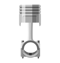 Automotive piston icon gray monochrome style vector