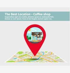 best location coffee shop vector image vector image