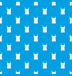 Blank women tank top pattern seamless blue vector