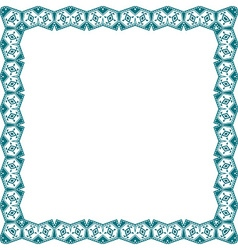 Blue frame with ethnic elements vector