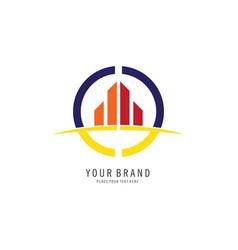 building symbol logo vector image vector image