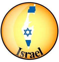 Button israel vector