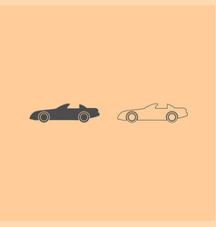 car dark grey set icon vector image vector image