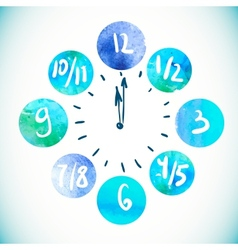 Clock Watercolor elements vector image