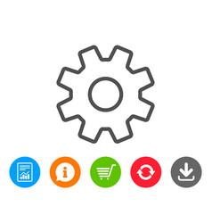 Cogwheel line icon service sign vector